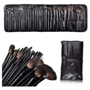 32 Count Super Professional Studio Brush Set with Leather Pouch
