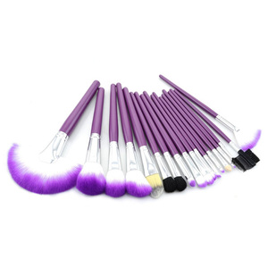 Top Professional Cosmetic Purple 18-Piece Brush Set with Best Organizer Case