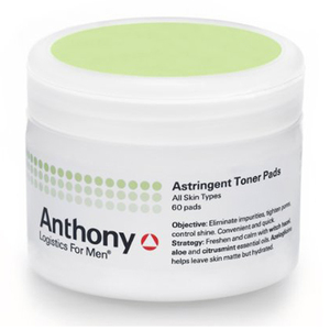 Anthony Logistics Astringent Toner Pads for Men