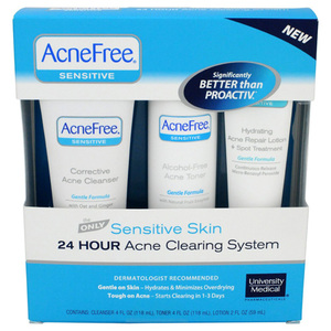 AcneFree Sensitive Skin 24 Hour Acne Clearing System