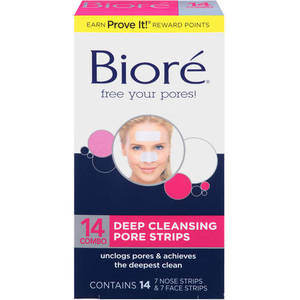 Biore Daily Deep Cleansing Pore Strips Combo