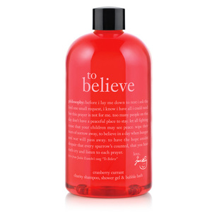 Philosophy To Believe Cranberry Currant Charity Shampoo, Shower Gel & Bubble Bath