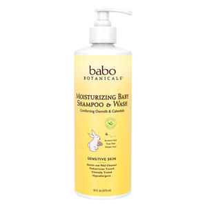 Babo Botanicals Family Size Moisturizing Baby Shampoo and Wash