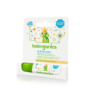 BabyGanics Lip & Face Balm, Fragrance Free