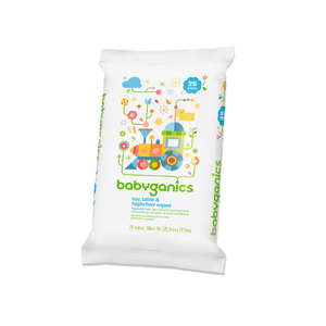 BabyGanics Toy, Table & Highchair Wipes, Fragrance Free