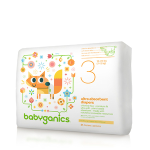 BabyGanics Ultra Absorbent Diapers, Size 3