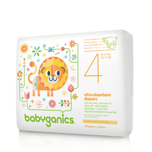 BabyGanics Ultra Absorbent Diapers, Size 4