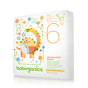 BabyGanics Ultra Absorbent Diapers, Size 6