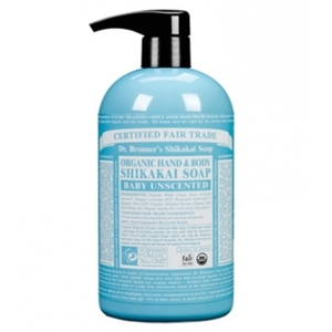 Dr. Bronner's Baby & Sensitive Skin Care Fair Trade & Organic Baby Unscented Pump Soap