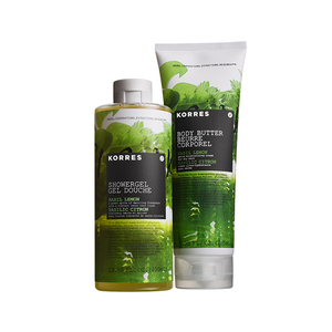 Korres Basil Lemon Body Butter & Showergel Duo