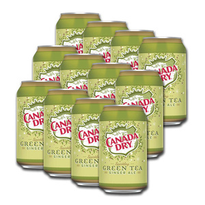 Canada Dry Sparkling Green Tea Ginger Ale 12 Pack (355ml per can)