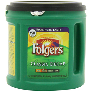 Folgers Classic Decaf Coffee 961g