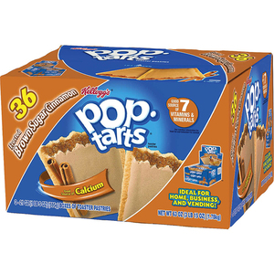 Kellogg's Pop Tarts Frosted Brown Sugar Cinnamon 36 Pack