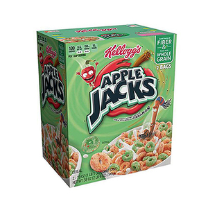 Kellogg's Apple Jacks Sweetened Cereal with Apple and Cinnamon 2 Bags