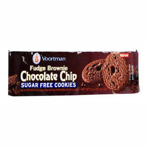 Voortman Fudge Brownie Chocolate Chips Sugar Free Cookies 227g