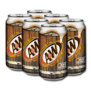 A&W Root Beer 6 Pack (355ml per can)