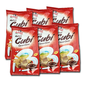 Balconi Cubi Cocoa Wafers 6 Pack (250g per pack)