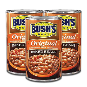 Bush's Best Original Baked Beans Seasoned with Bacon & Brown Sugar 3 Pack (468g per pack)