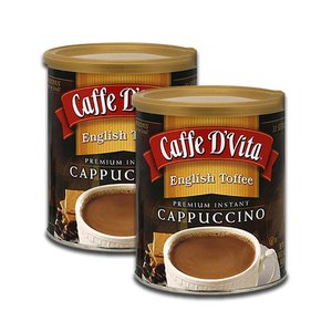 Caffe D' Vita Cappucino English Toffee Coffee 2 Pack (1.36kg per pack)