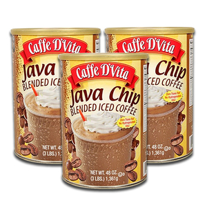 Caffe D' Vita Java Chip Blended Iced Coffee 3 Pack (1.36kg per pack)