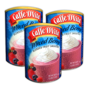 Caffe D' Vita Mixed Berry Blended Fruit Smoothie 3 Pack (1.36kg per pack)
