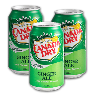 Canada Dry Ginger Ale 3 Pack (355ml per can)