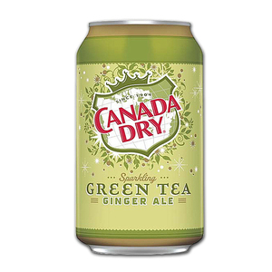 Canada Dry Sparkling Green Tea Ginger Ale 6 Pack (355ml per can)