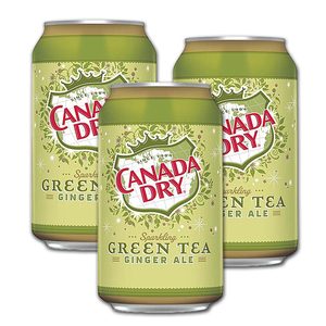 Canada Dry Sparkling Green Tea Ginger Ale 3 Pack (355ml per can)