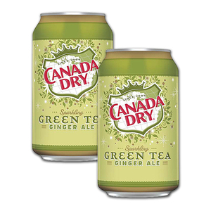 Canada Dry Sparkling Green Tea Ginger Ale 2 Pack (355ml per can)