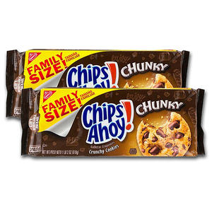 Chips Ahoy! Real Chocolate Chunk Cookies Chunky 2 Pack (510g per pack)