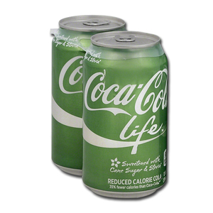 Coca Cola Life Reduced Calorie Cola 2 Pack (355ml per can)