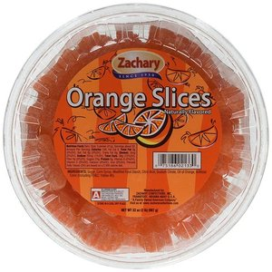 Zachary Naturally Flavored Orange Slices 6 Pack (60g per pack)