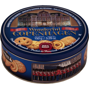 Wonderful Copenhagen Biscuits Danish Butter Cookies 6 Pack (150g per can)