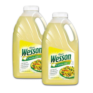 Wesson 100% Natural Canola Oil 2 Pack (4.73L per pack)