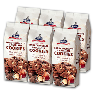 Merba Dark Chocolate & Hazelnut Cookies 6 Pack (200g per pack)