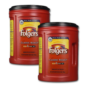 Folgers Classic Roast Ground Coffee 2 Pack (1.36kg per pack)