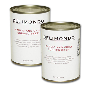 Delimondo Garlic & Chili Corned Beef 2 Pack (380g per pack)
