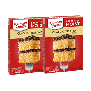 Duncan Hines Classic Yellow Cake Mix 2 Pack (432.33g per box)