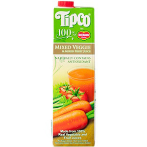 Tipco 100% Mixed Veggies and Mixed Fruit Juice for Del Monte 1L
