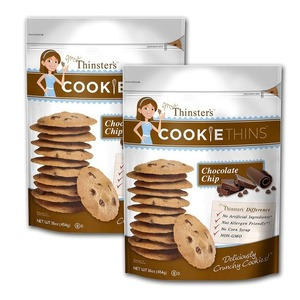 Mrs. Thinster's Cookie Thins Deliciously Crunchy Chocolate Chip 2 Pack (454g per pack)