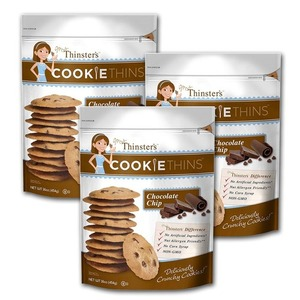 Mrs. Thinster's Cookie Thins Deliciously Crunchy Chocolate Chip 3 Pack (454g per pack)