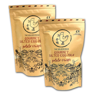 The Golden Duck Gourmet Salted Egg Yolk Potato Crisps 2 Pack (125g per pack)