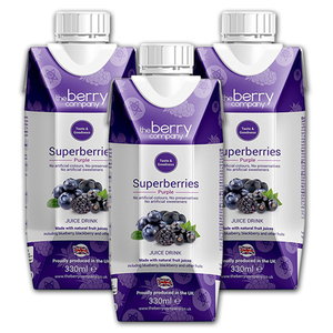 The Berry Company Superberries Purple Juice Drink 3 Pack (330ml per pack)