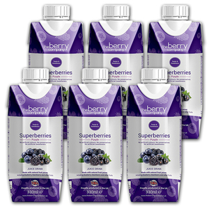 The Berry Company Superberries Purple Juice Drink 6 Pack (330ml per pack)