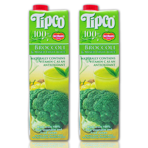 Tipco 100% Broccoli and Mixed Fruit Juice for Del Monte 2 pack (1L per pack)