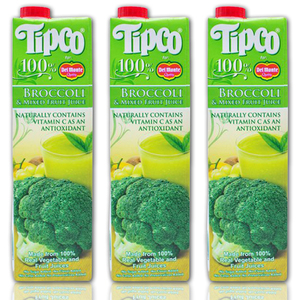 Tipco 100% Broccoli and Mixed Fruit Juice for Del Monte 3 pack (1L per pack)