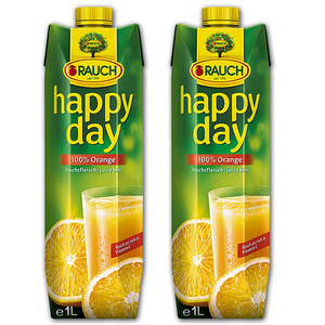 Rauch Happy Day 100% Orange Juicy Bits 2 Pack (1L per pack)