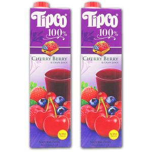 Tipco 100% Cherry Berry & Grape Juice for Del Monte 2 Pack (1L per pack)