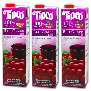 Tipco 100% Red Grape Juice for Del Monte 3 Pack (1L per pack)