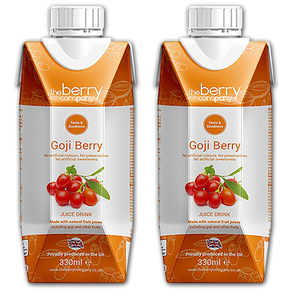 The Berry Company Goji Berry Fruit Juice 2 Pack (330ml per pack)